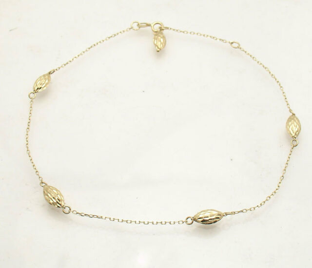 hong smooth gold genuine chow fook tai kong item real counter ball round gbbeihcagec anklet
