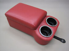 Red Bench Seat Console With Flip Up Armrest and Cup Holders