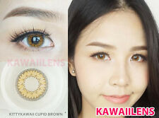 Contact Lenses Color Soft Big Eyes Cosmetic UV Protection Lens Cupid Brown