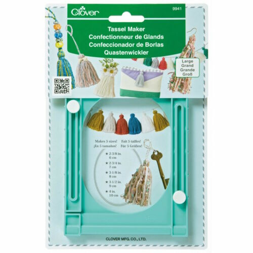 Clover 9941 Large Tassel Maker Trim Cord Ornament Decor NEW