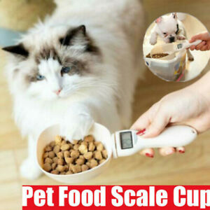 Pet-Food-Measuring-Scoop-Scale-Cup-Dog-Cat-Diet-Balance-Feeding-Bowl-Spoon-NEW
