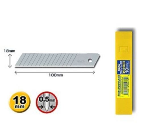 60 Paxks 600 Blades OLFA LBD-10 18mm Blades Heavy-duty Snap-off Replacement v_e