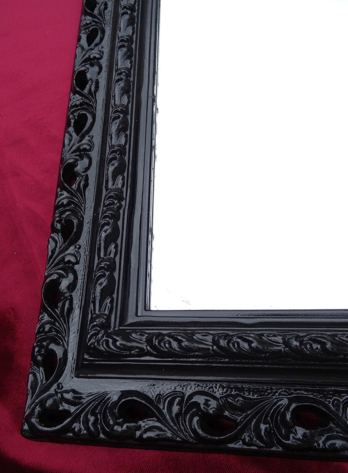 Miroir Mural 43x36 Miroir Baroque Rectangulaire Noir Cadre Photo Arabesco 4
