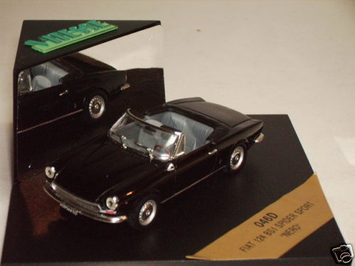 VITESSE - FIAT 124 BS1 BS1 BS1 SPIDER SPORT CABRIOLET blackE 49ecbc