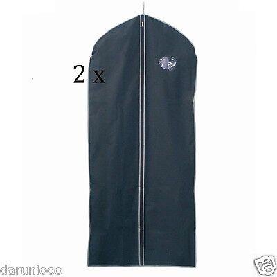 2 x New Set Of Blk Peva Garment Suit Covers Clothes Dress Bag Travel business