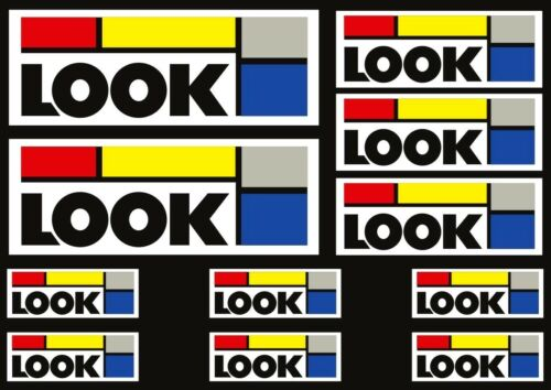 LOOK Racing Vintage Retro Bike Cycling Bike Frame Decal Stickers Adhesive 11 Pcs