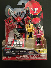 Power Rangers Megaforce clave Conjunto Para legendario Morpher-Rosa Amarillo Rojo Piratas
