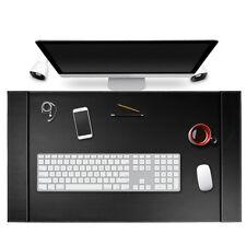34 X 20 Premuim Vegan Leather Office Desk Pad Mouse Laptop Mat With Side Rails