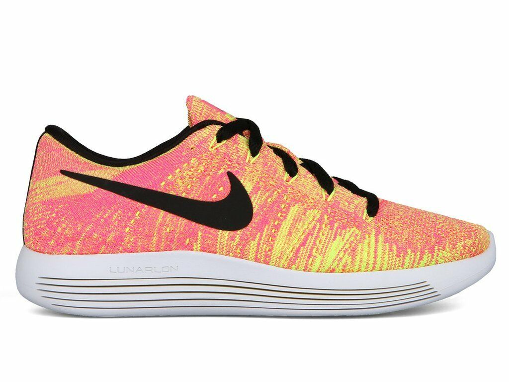 NIKE femmes LUNAREPIC LOW FLYKNIT OC Chaussures SIZE 8 multi color 844863 999