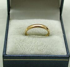 1920's Plain Narrow 22ct Gold Wedding Ring By Samuel Hope