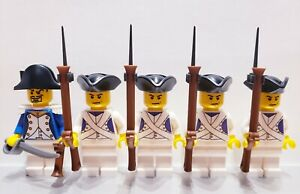 Lego-PIRATES-NAPOLEONIC-WARS-FRENCH-VOLTIGEUR-Infantry-Soldiers-MINIFIGS