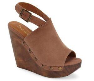 d8821207c26 Wome's Five Worlds Cordani Manzanillo Platform Wedge Sandal Leather ...