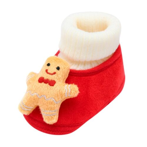 Newborn Toddler Baby Christmas Deer Cartoon Warm Soft Sole Boot Cotton Shoes