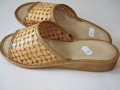 Señoras Zapatillas De Cuero Talla 7