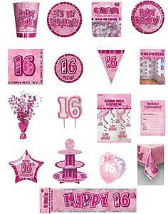 16-16th-Birthday-Pink-Glitz-Party-Range-Party-Plates-Napkins-Banners-Cups