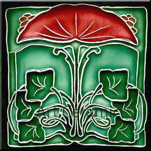 Art Nouveau Reproduction Decorative Ceramic Tile 187 Ebay
