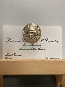Military Pin, Lieutenant Colonel Cumming Military Naval Air Attaché Warsaw R02