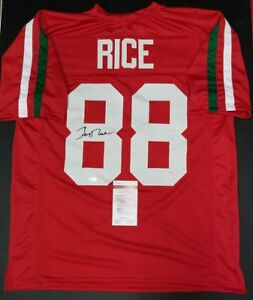 27fcbbb680c Image is loading JERRY-RICE-Signed-Autograph-Mississippi-Valley-State-Custom -