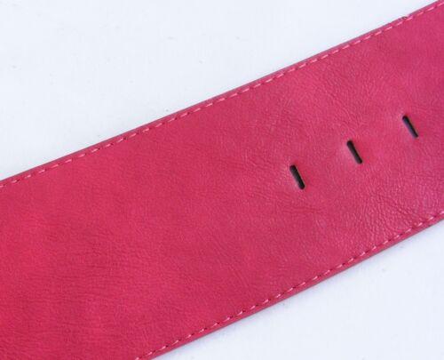 Ampio guaine in vita Cintura Fibbia Grande Rosso Vinaccia cintura da donna #hg5