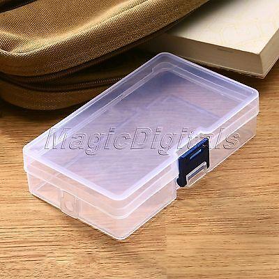 Plastic Rectangular Transparent Storage Box Jewelry Cassette Transpaent case TR