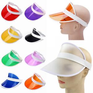 Retro Unisex Neon Sun Visor Hat For Golf Tennis Stag Poker Party ... cb1440eea62