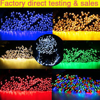 100 200 300 LED Solar Powered Fairy String Party Garden XMAS Light Decor
