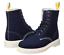 Page Dr Martens 5 Women's Boots Uk Canvas Size Navy Eyelet 8 Hq6T5q