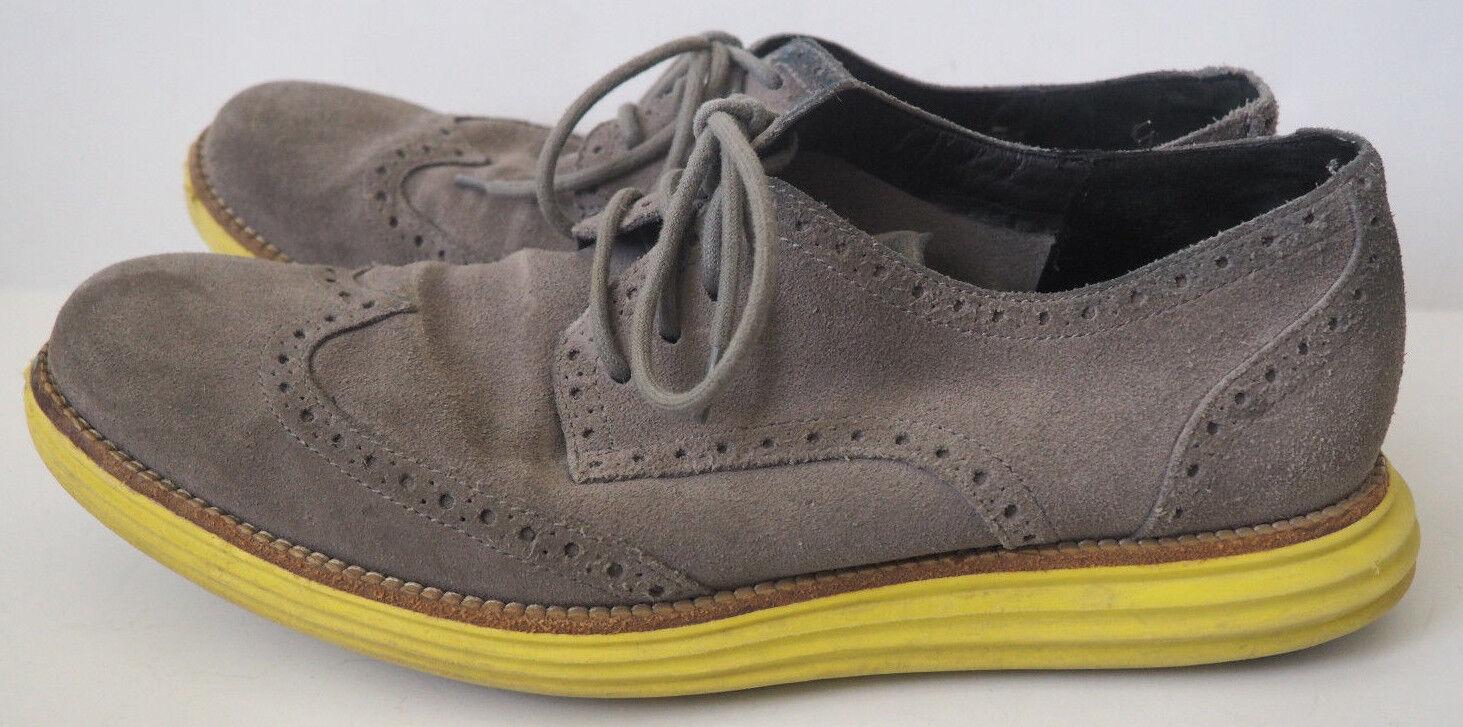 COLE HAAN Gray Lunargrand Suede / Yellow  Lunargrand Gray Wingtip Oxford Schuhes -  Größe 11.5 762ae3