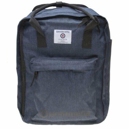 New Mens Lambretta Blue Twill Polyester Backpack Backpacks