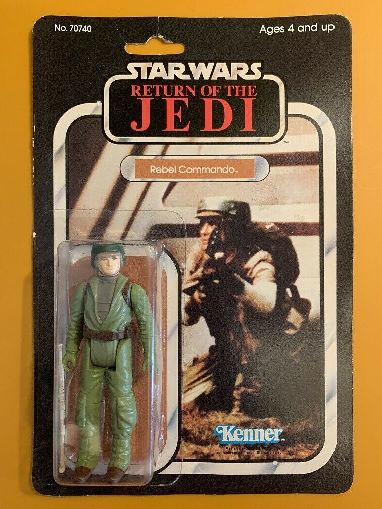 Vintage ROTJ Rebel Commando - 65b Nice Cond & Clear Star Wars Return of the Jedi