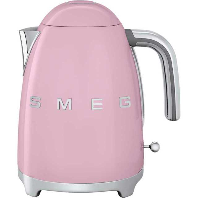 Smeg KLF03PKUK 50's Retro Kettle Limescale Filter 3000 Watt Pink New from AO
