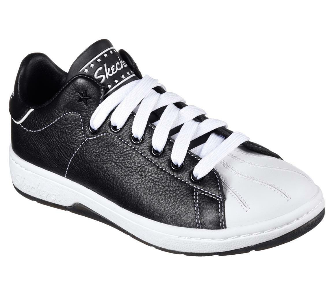 Skechers ALPHA-LITE FAIR SHARE nero & bianca Leather Retro scarpe scarpe scarpe da ginnastica Wms 9 NWT 3ba167