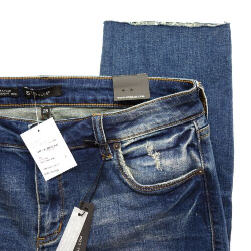 26 Gamba 24 Blue Corto Destroyed Dritta Jeans Sdrucito Scuro X Taylor Nuovo Sts 71xnq7R