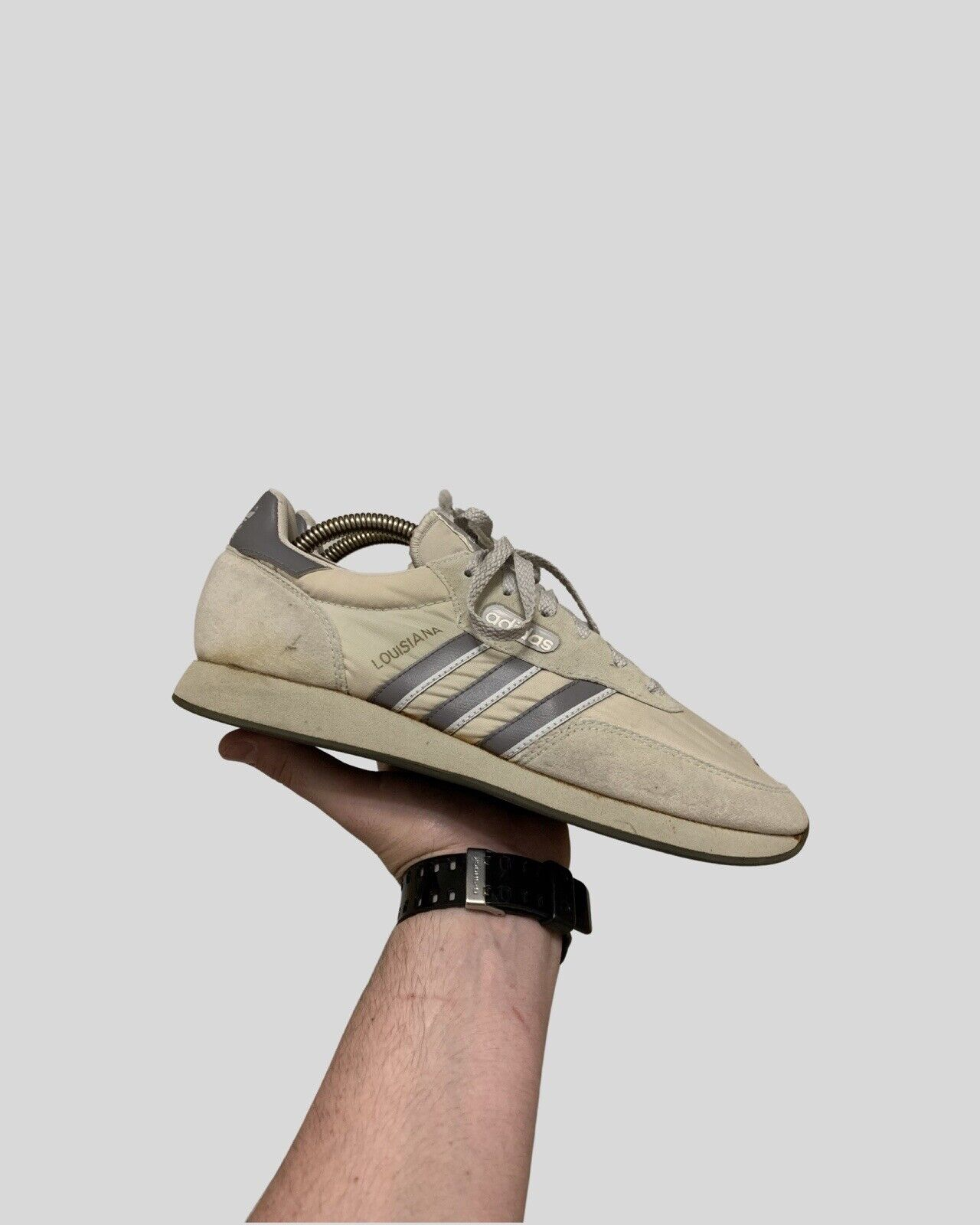 Vintage Adidas Louisiana Sneakers 1987 Color Grey UK7/40,5 Made in Philippines