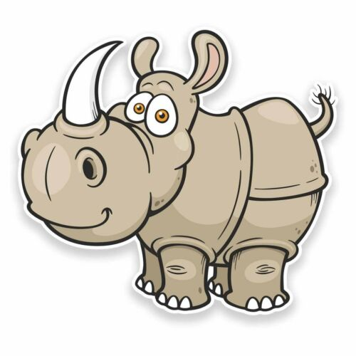 2 X Pegatina de vinilo rhinosaurus Rhino Coche Viaje Equipaje #9539