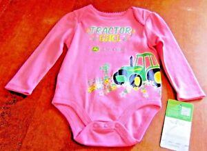 22fa8f3d8 John Deere girls Pink one piece w/'TRACTOR GIRL' tractor, barn ...