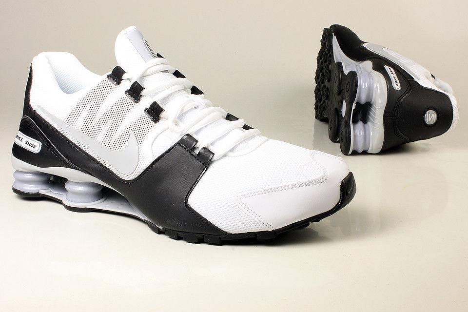 Nike Shox Avenue Scarpe da Corsa Bianco Nero argentoo Uomo 833583-100 Taglia 11