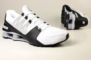 info for 06cd1 a4f44 ... Nike-Shox-Avenue-Chaussures-Course-Blanc-Noir-Argent-