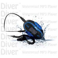 Waterproof Mp3 Player. Lcd. Swim. Fm Radio. With Headphones. Usb Ipx8 4gb Blue.