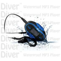 Waterproof Mp3 Player. Lcd. Swim. Fm Radio. With Headphones. Usb Ipx8 4gb Blue.