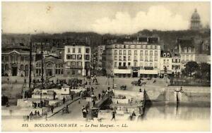 Boulogne-Sur-Mer-France-Frankreich-1910-CPA-Carte-Postale-Le-Pont-Marguet-L-L