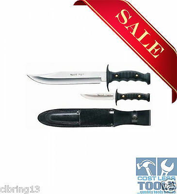 Muela Bowie Kangaroo Two Knife Hunting Set INCLUDES LEATHER SHEATH - YM7221P