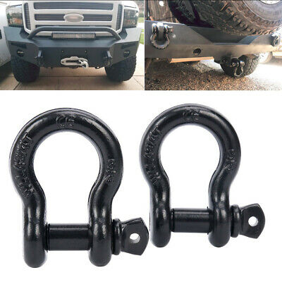 D Ring Shackle 3.25 Ton // 7165 lbs Capacity Must-Have Towing Accessories ALL-TOP Shackles 5//8 Black Powder Coated Shackles 2 Pack
