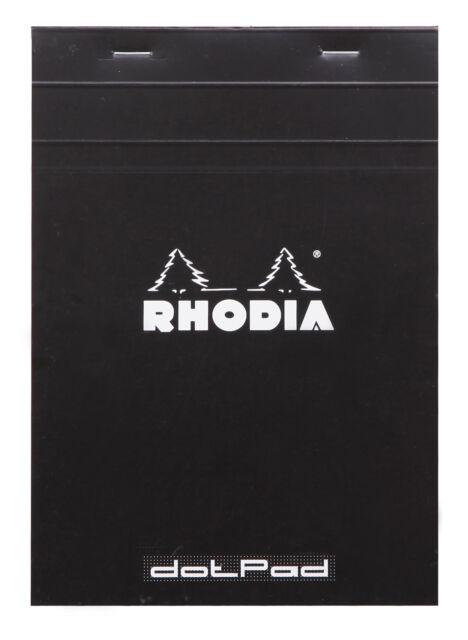 Rhodia Staplebound Notebook 6 X 8 Dot Grid paper Black