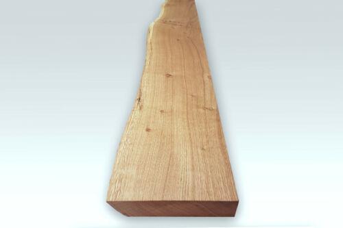 Massivholz Wandregal mit Baumkante Asteiche Massiv 17-20cm tief 2,8cm stark