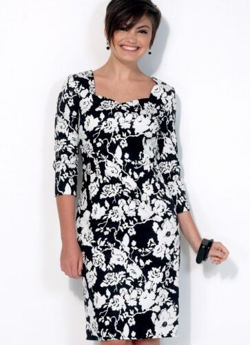Gratuit UK p/&p mccalls Femmes sewing pattern 7085 Semi-Ajusté Doublé dresse...