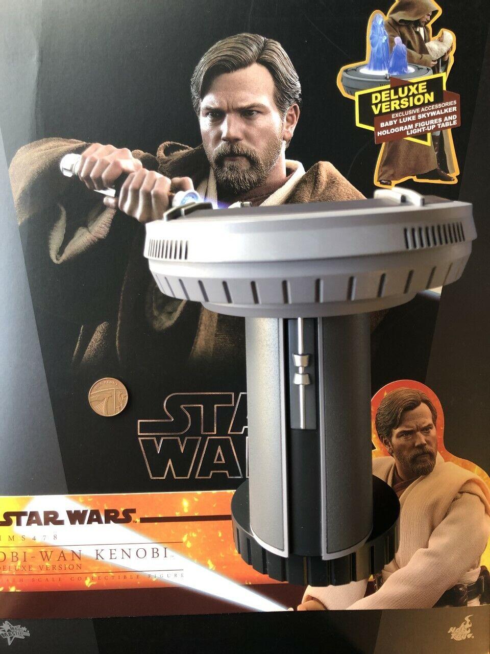 Caliente giocattoli estrella guerras Obi Wan Kenobi  MMS478 DELUXE OLOGRAMMA tabella Loose SCALA 1 6th  consegna e reso gratuiti