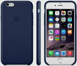 sale retailer 0cff7 0c16a Details about NEW Apple Leather Case iPhone 6 Plus 6s Plus MKXD2ZM/A -  MIDNIGHT BLUE - Sealed