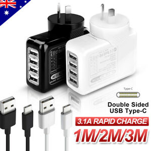 Genuine-USB-AC-Wall-Charger-SAA-Type-C-Cable-for-Samsung-S9-S8-Note-8-Pixel-2-XL
