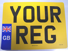 MOTOR CYCLE REAR PLATE WITH UNION JACK BADGE 9 x 7 (229mm x 178mm) 100% LEGAL